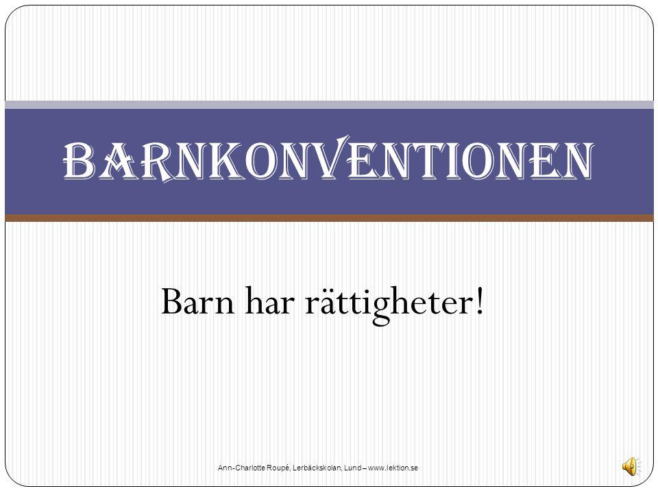 Ann-Charlotte Roupé, Lerbäckskolan, Lund – www.lektion.se