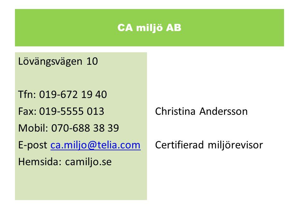 Certifierad miljörevisor