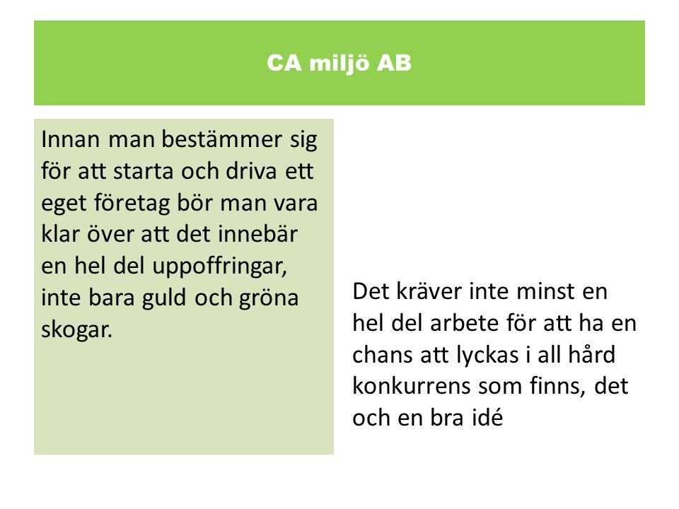 CA miljö AB