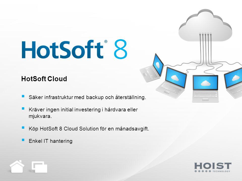 HotSoft Cloud Säker infrastruktur med backup och återställning.