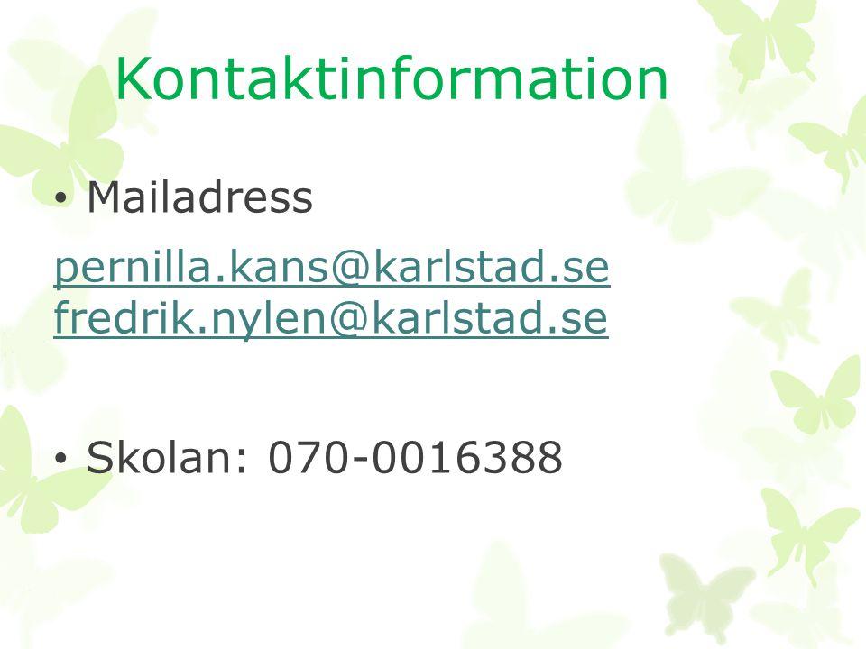 pernilla.kans@karlstad.se fredrik.nylen@karlstad.se