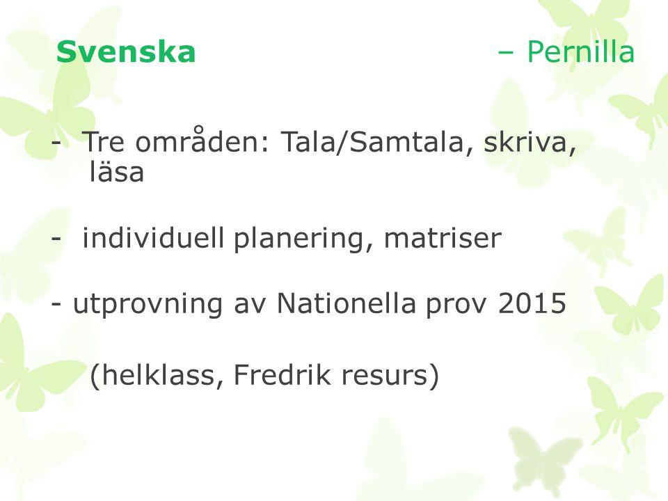 Svenska – Pernilla