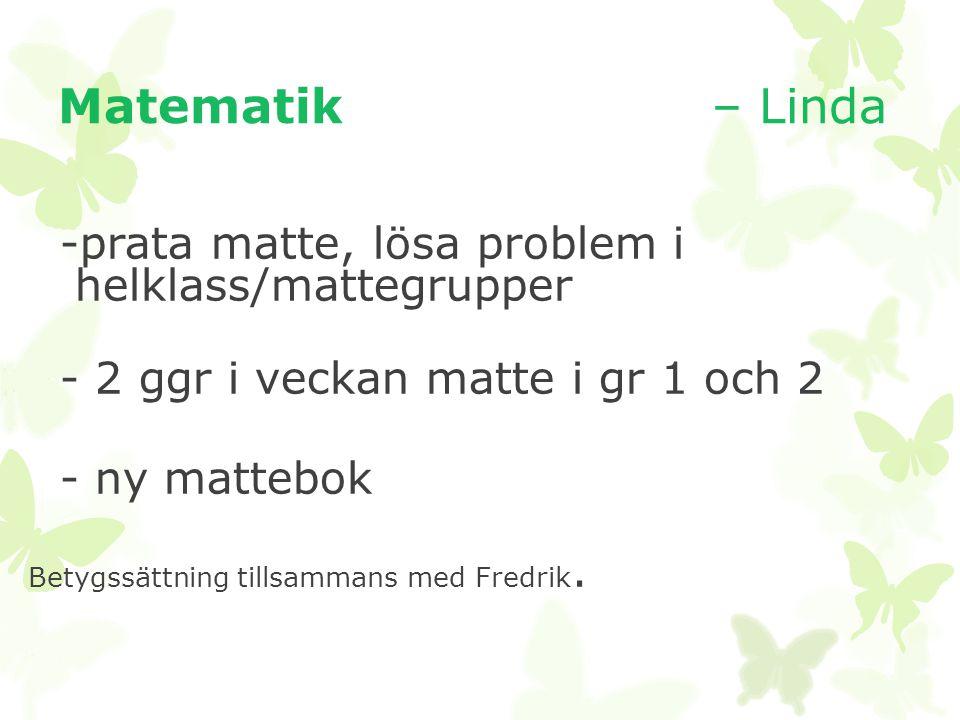 -prata matte, lösa problem i helklass/mattegrupper