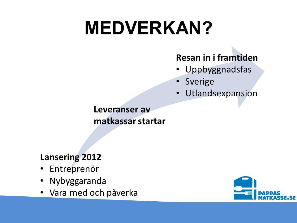 MEDVERKAN Resan in i framtiden Uppbyggnadsfas Sverige