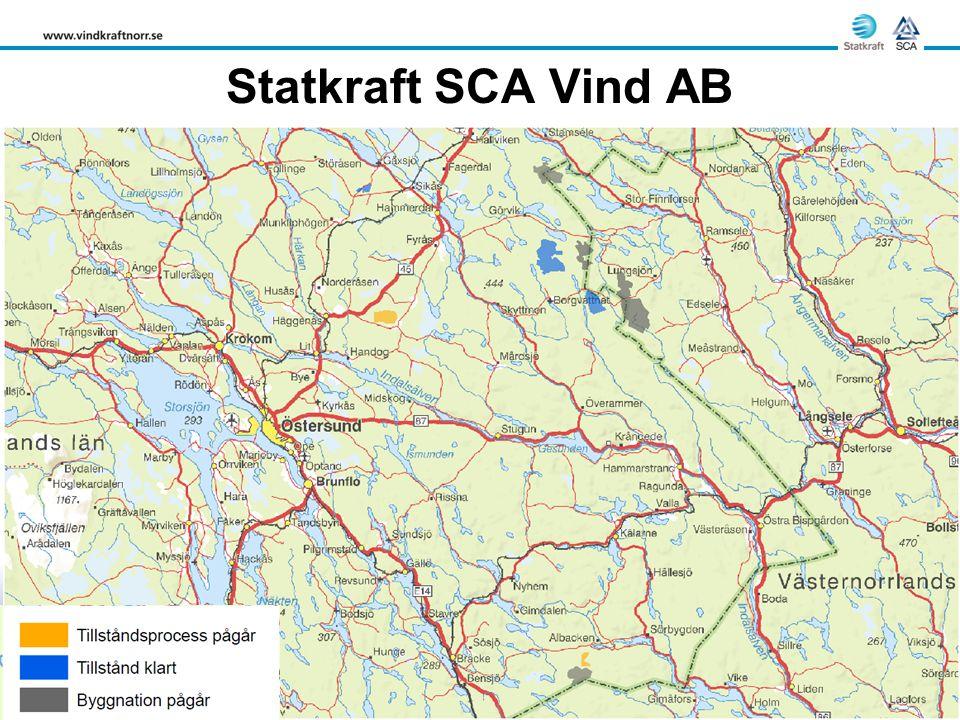 Statkraft SCA Vind AB Stamåsen Raftsjöhöjden Ögonfägnaden Bodhögarna