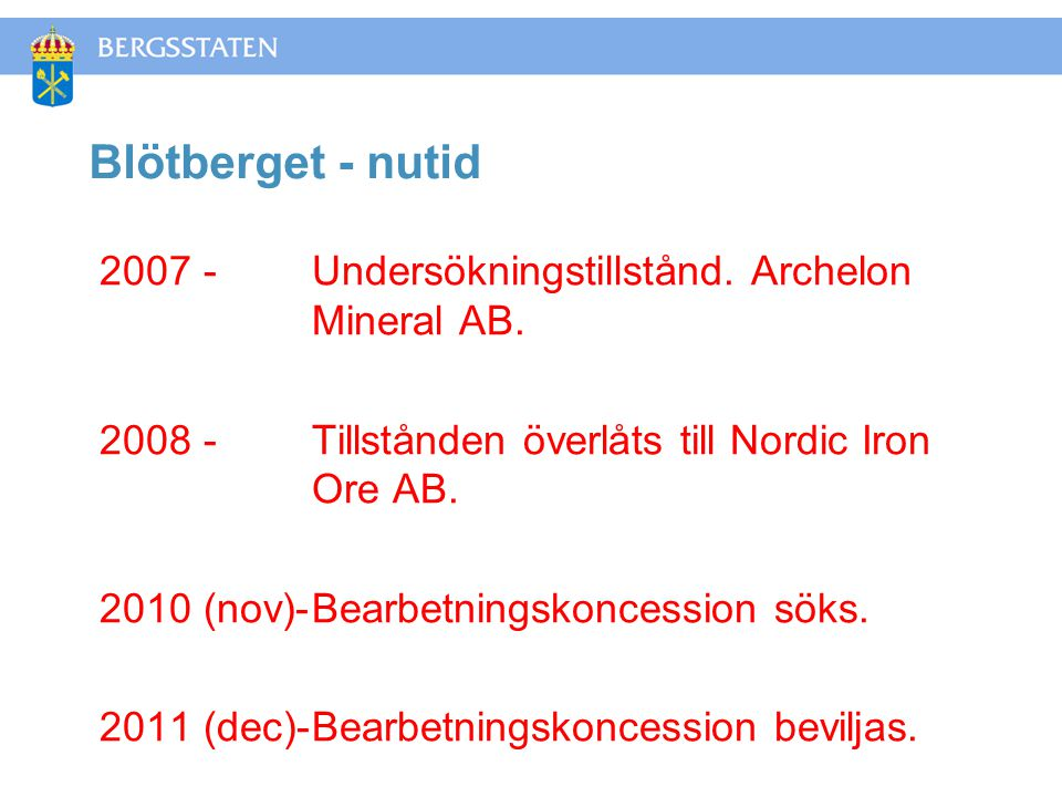 Blötberget - nutid