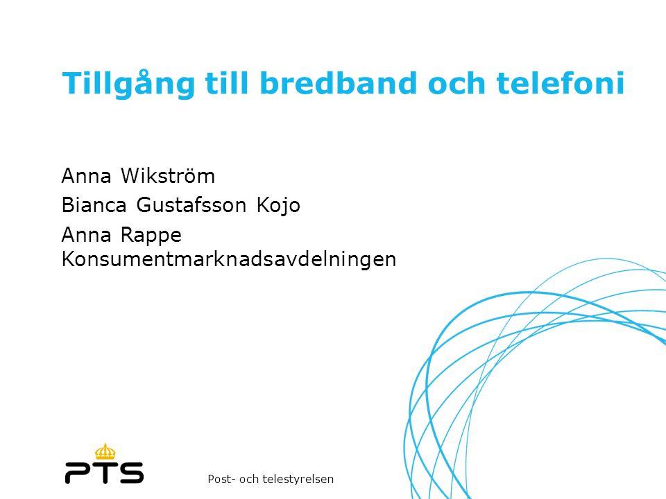 Tillgång till bredband och telefoni
