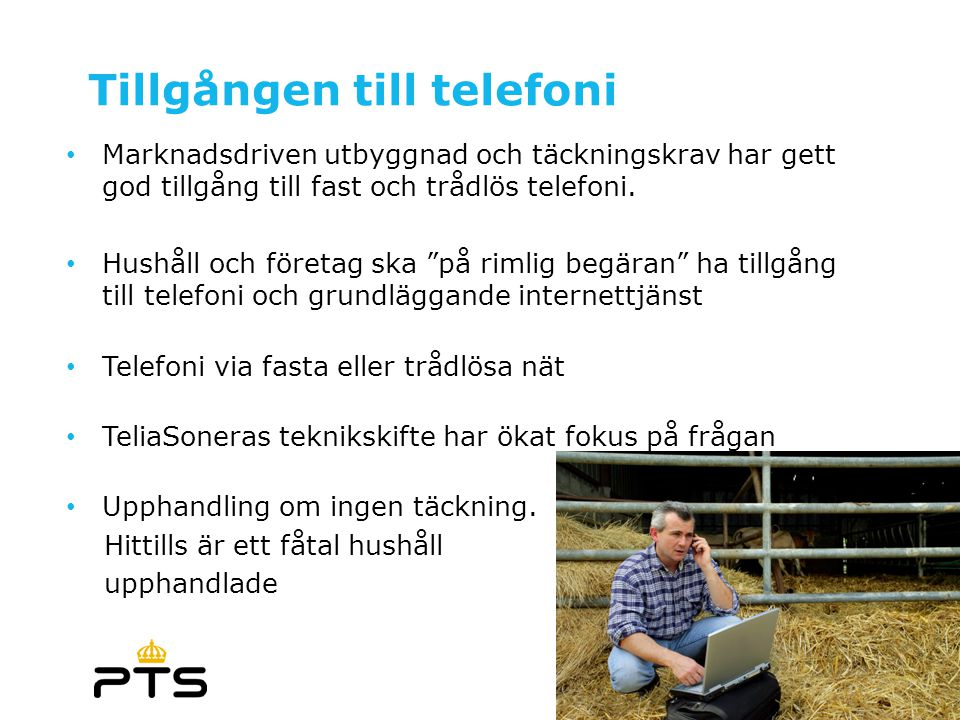 Tillgången till telefoni