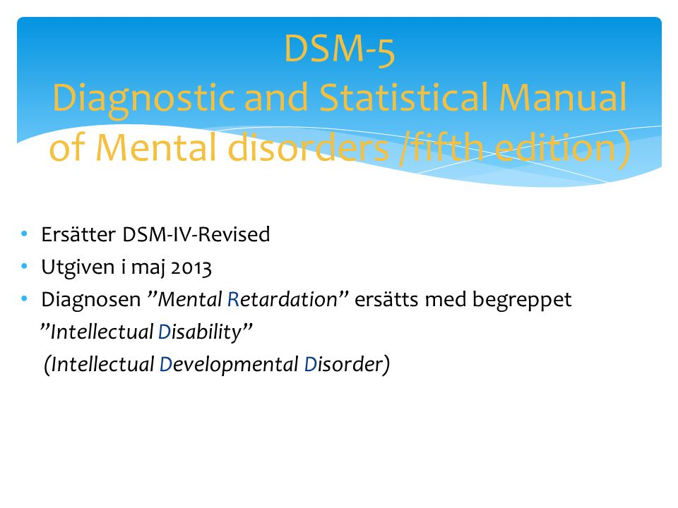 DSM-5 Diagnostic and Statistical Manual of Mental disorders /fifth edition)