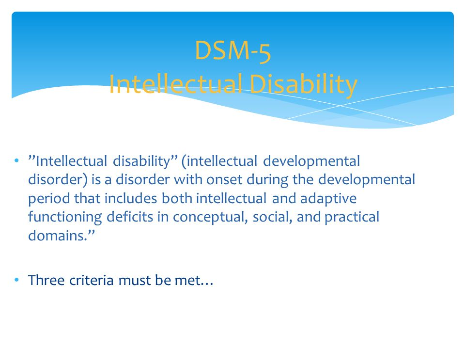 DSM-5 Intellectual Disability