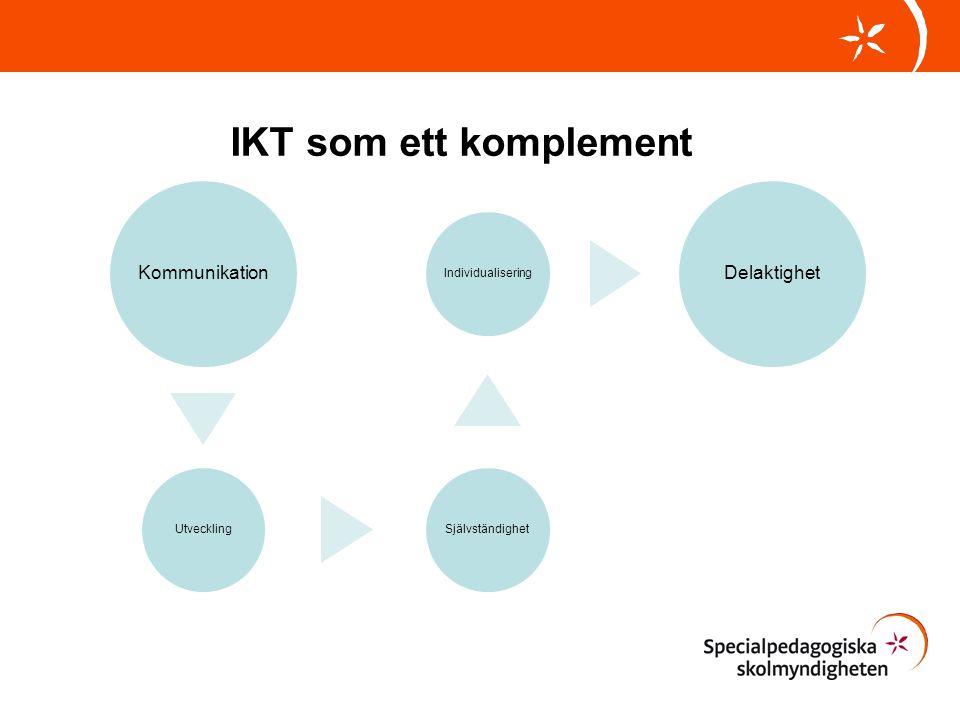IKT som ett komplement Kommunikation Delaktighet Utveckling