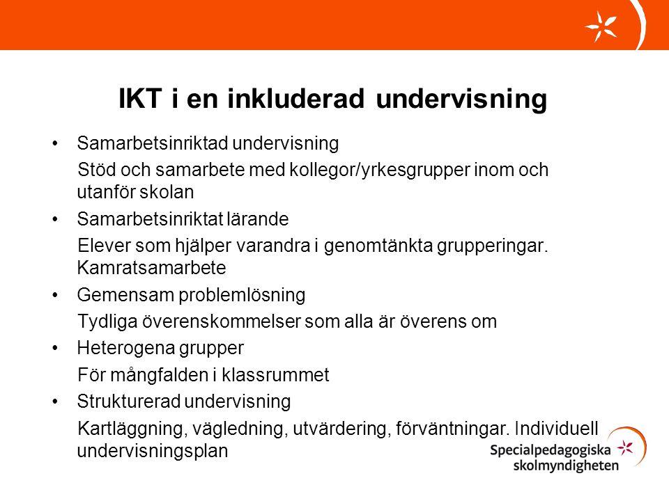 IKT i en inkluderad undervisning