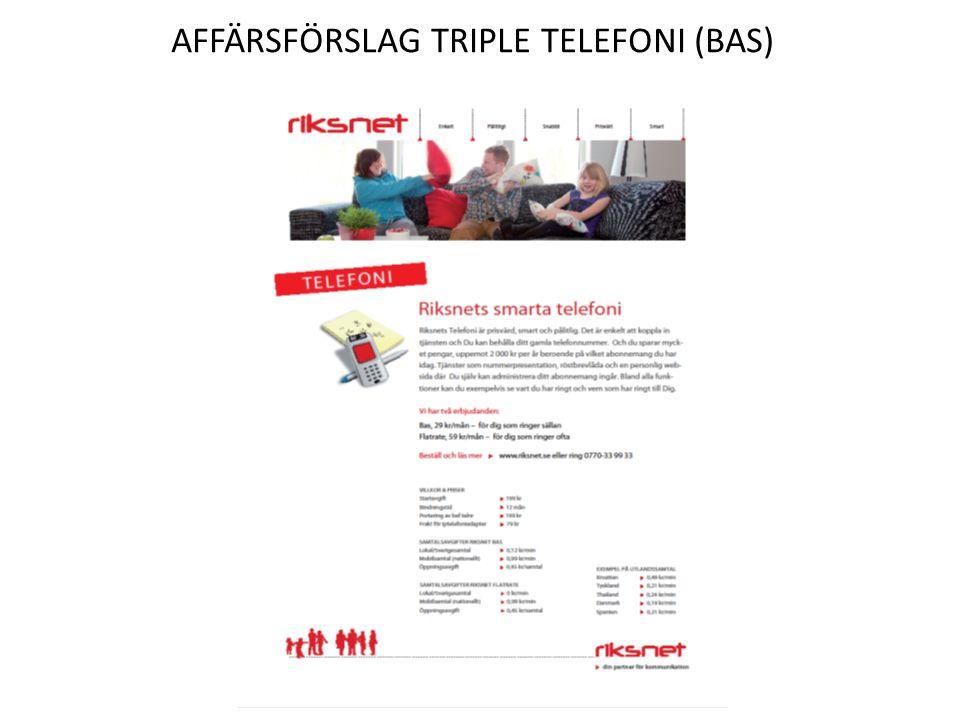 Affärsförslag triple Telefoni (bas)