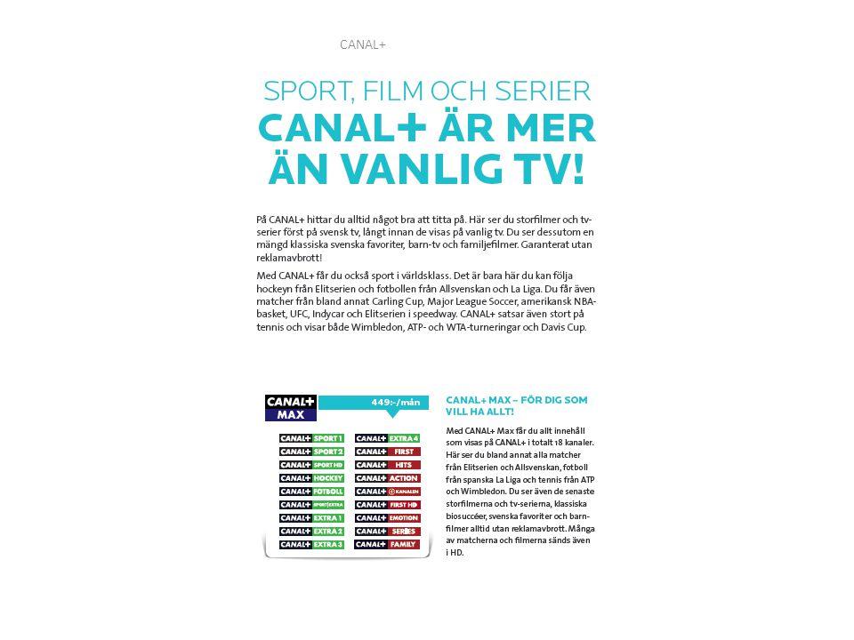 CANAL+ Elitserien, Allsvenskan samt Spanska Laliga