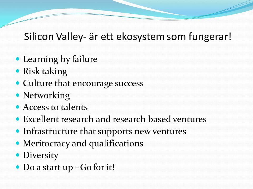 Silicon Valley- är ett ekosystem som fungerar!