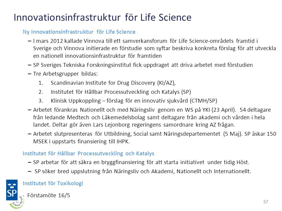 Innovationsinfrastruktur för Life Science