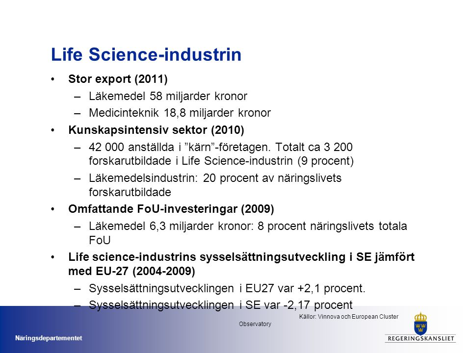 Life Science-industrin