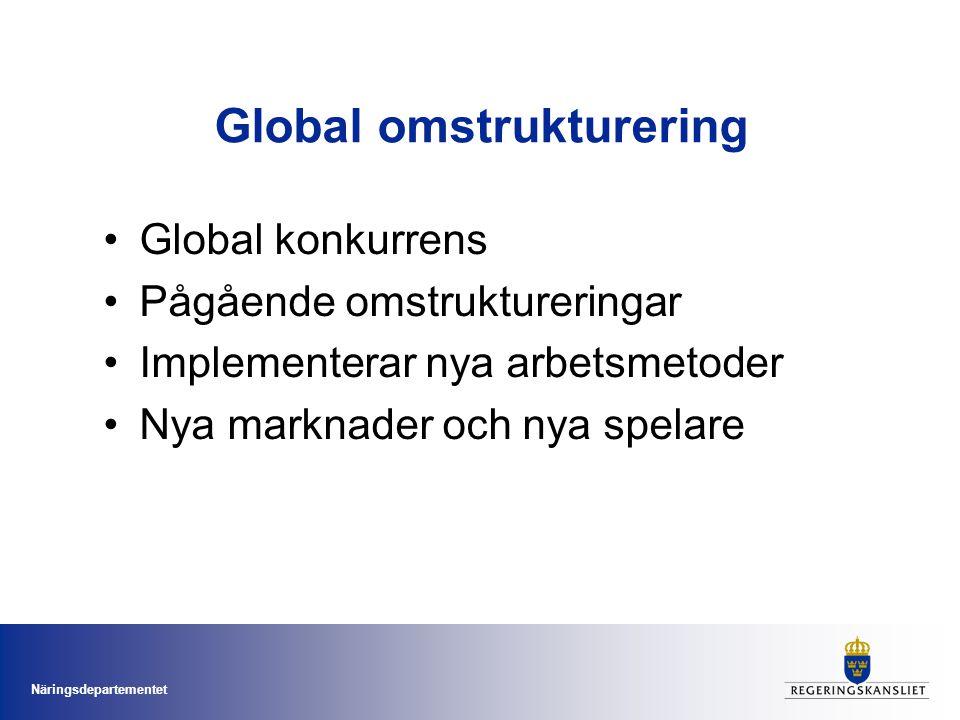 Global omstrukturering