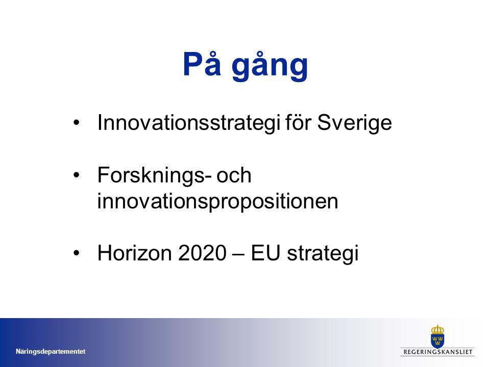 På gång Innovationsstrategi för Sverige