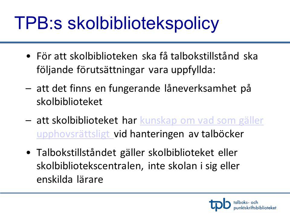 TPB:s skolbibliotekspolicy