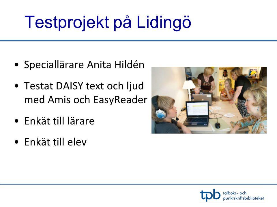 Testprojekt på Lidingö