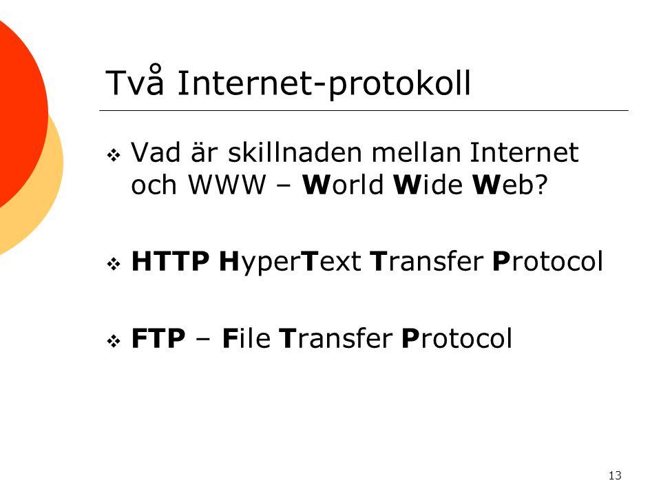 Två Internet-protokoll