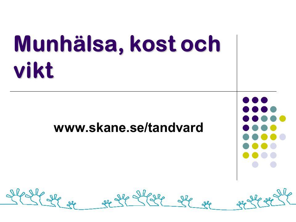 Munhälsa, kost och vikt www.skane.se/tandvard