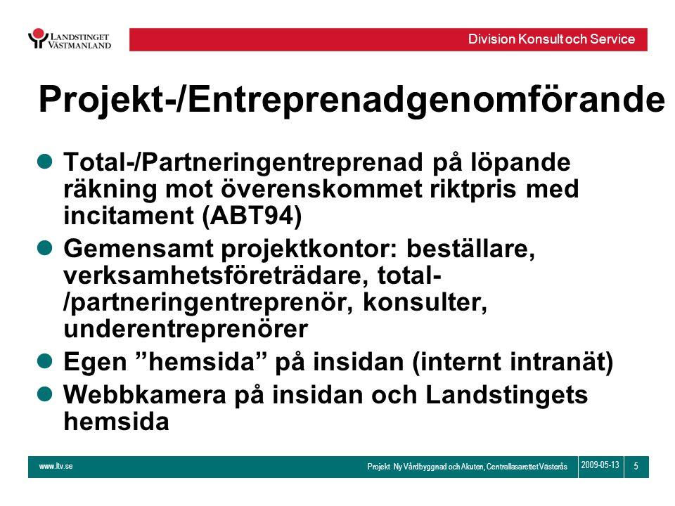 Projekt-/Entreprenadgenomförande