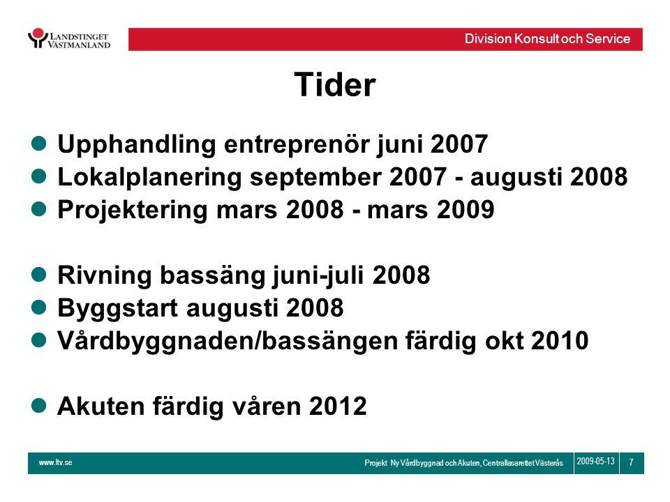 Tider Upphandling entreprenör juni 2007