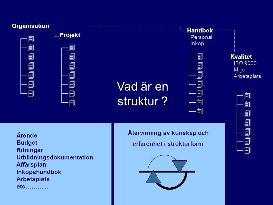 Återvinning av kunskap och erfarenhet i strukturform