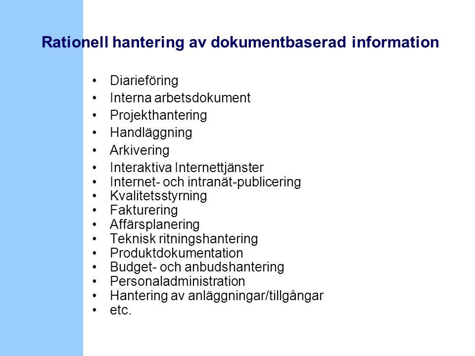 Rationell hantering av dokumentbaserad information