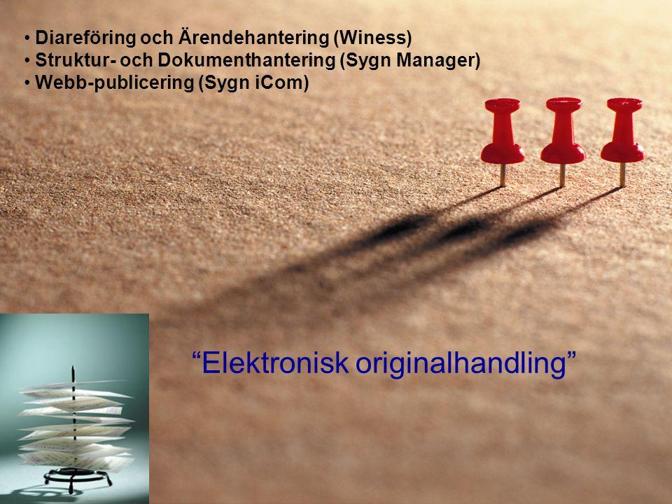 Elektronisk originalhandling