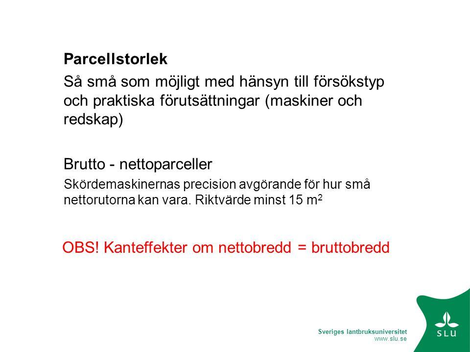 Brutto - nettoparceller
