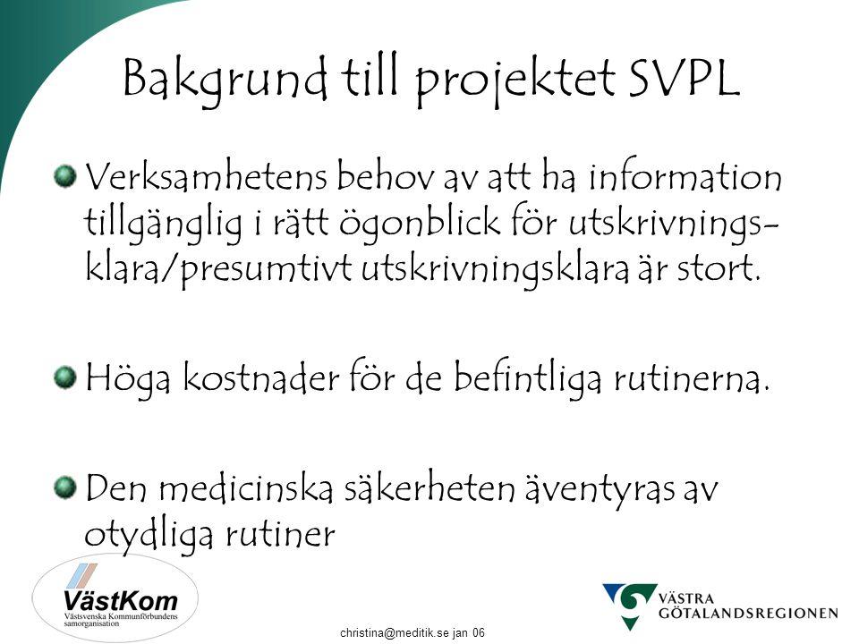 Bakgrund till projektet SVPL