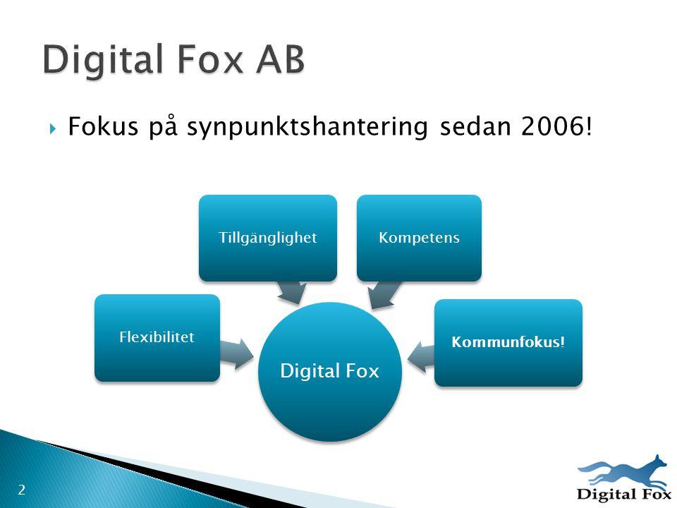 Digital Fox AB Fokus på synpunktshantering sedan 2006! Digital Fox
