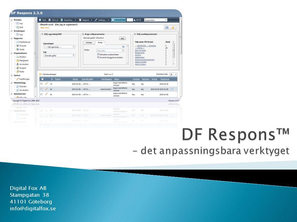 DF Respons™ – det anpassningsbara verktyget