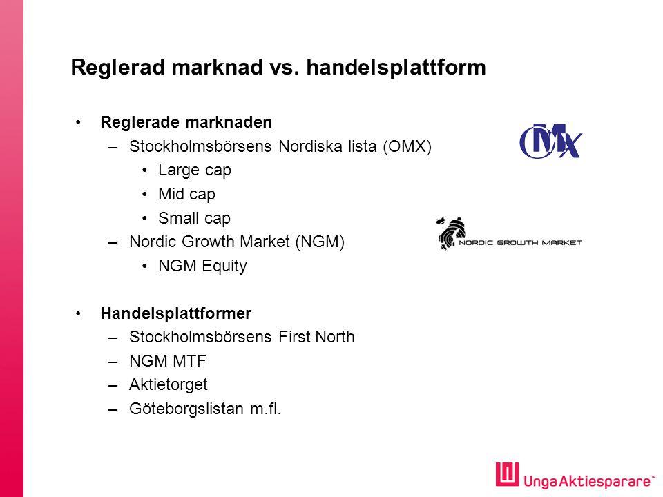 Reglerad marknad vs. handelsplattform