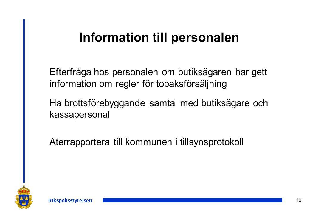 Information till personalen