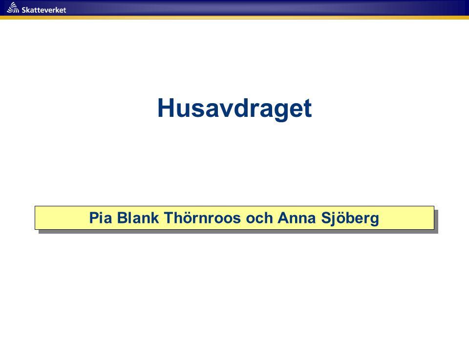 Pia Blank Thörnroos och Anna Sjöberg