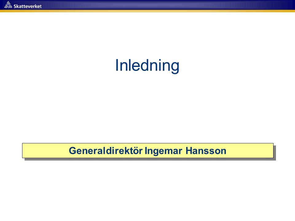 Generaldirektör Ingemar Hansson