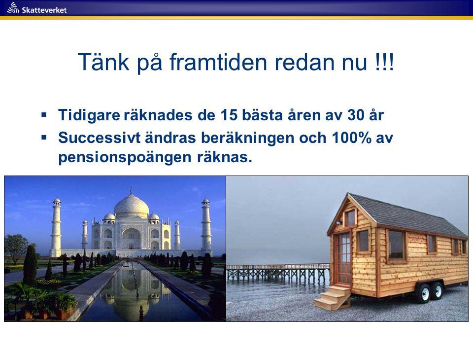 Tänk på framtiden redan nu !!!