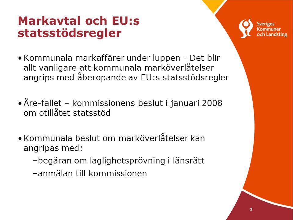 Markavtal och EU:s statsstödsregler