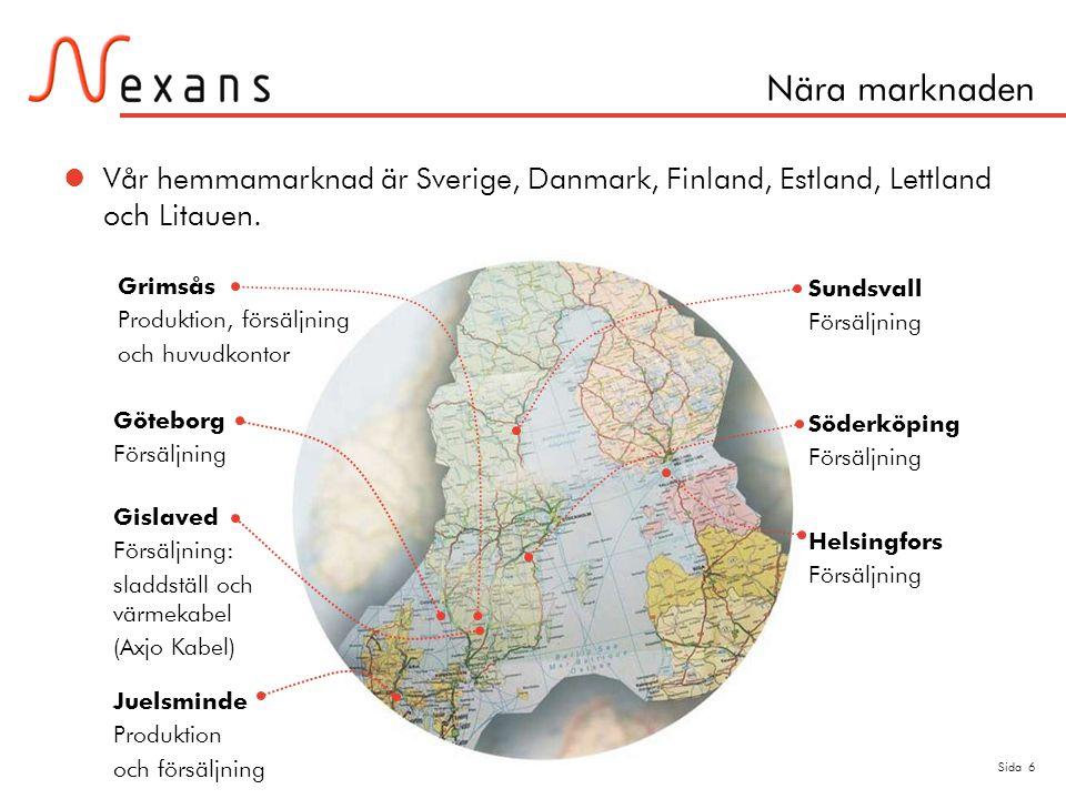 Nära marknaden Vår hemmamarknad är Sverige, Danmark, Finland, Estland, Lettland och Litauen. Grimsås.