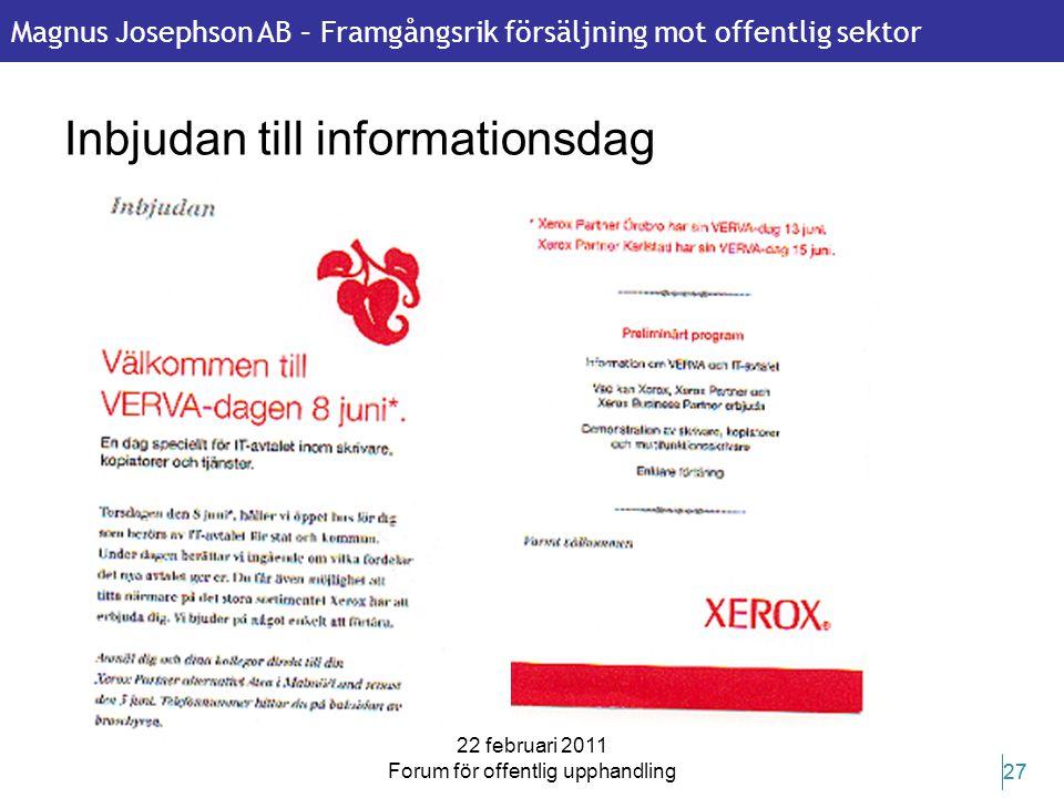 Inbjudan till informationsdag