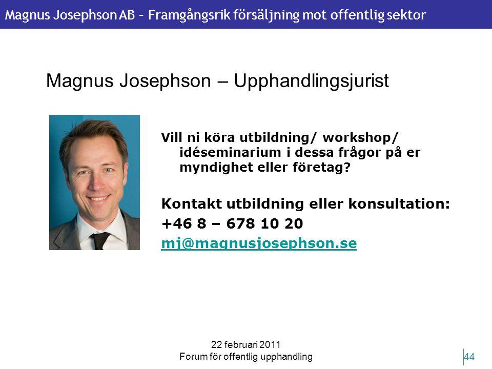 Magnus Josephson – Upphandlingsjurist