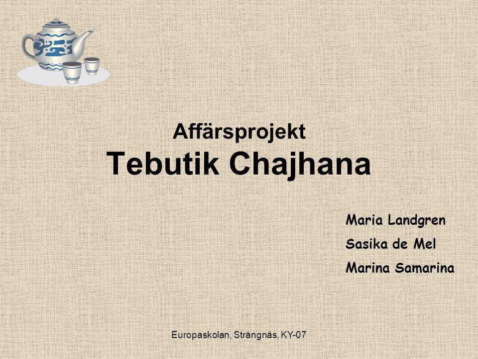 Affärsprojekt Tebutik Chajhana