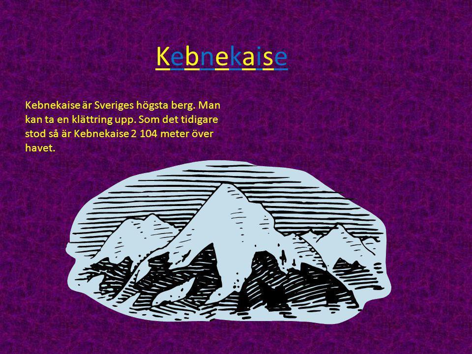 Kebnekaise Kebnekaise är Sveriges högsta berg. Man kan ta en klättring upp.