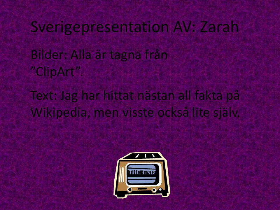 Sverigepresentation AV: Zarah