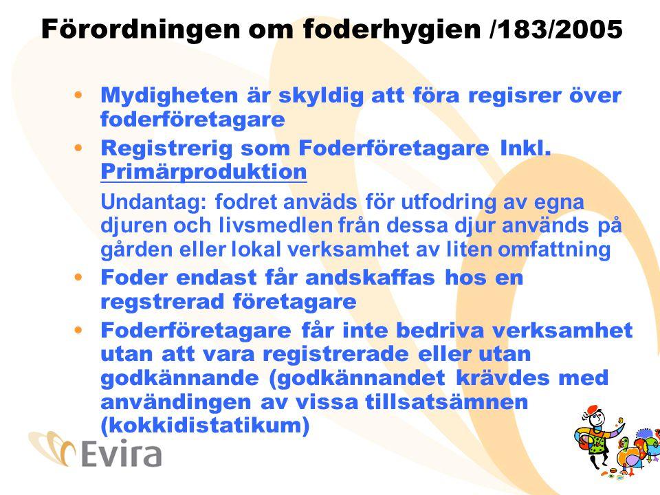 Förordningen om foderhygien /183/2005