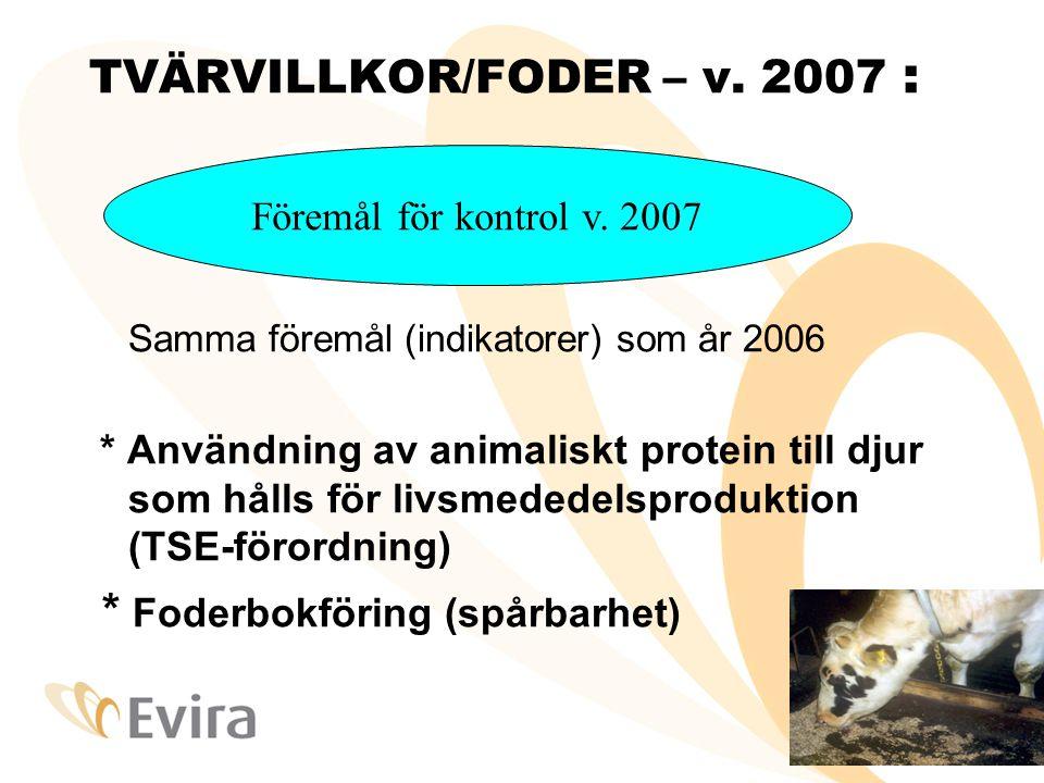 TVÄRVILLKOR/FODER – v. 2007 :
